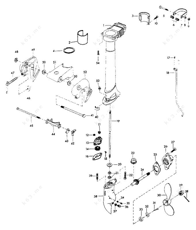 chrysler 3 6 1977  motor leg and gear housing