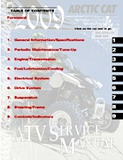 2009 Arctic Cat 250 Utility / DVX 300 ATV Service Manual