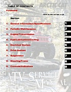 2009 Arctic Cat 366 ATV Service Manual