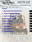 2009 Arctic Cat Prowler XTZ ATV Service Manual