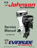 "1993 Johnson Evinrude ""ET"" 40 thru 55 Service Manual, P/N 508283"