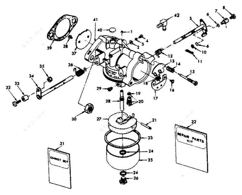 chrysler 35 1977  carburetor