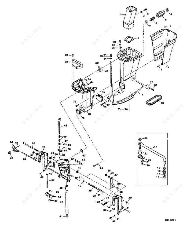 Chrysler Parts Motor Leg on Pin Evinrude Johnson Outboard Motor Cover Diagram And Parts On