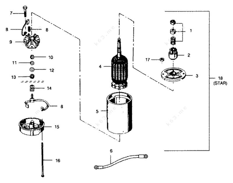 Mercury Force 50 H P  1991  Electric Starter