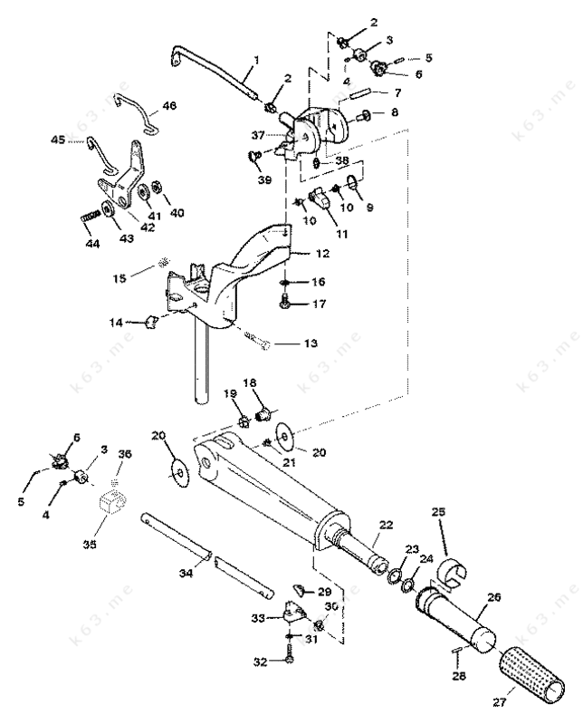 yamaha steering linkage diagram